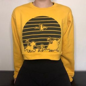 Disney The Lion King Cropped Crew Neck Sweater